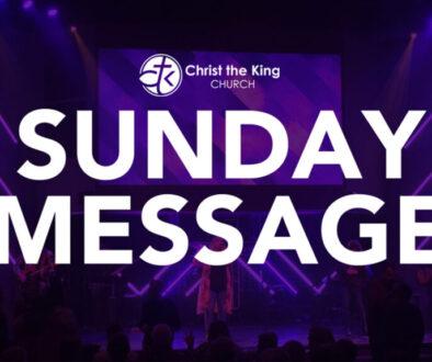 Sunday message title